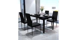 <b>Five Piece Dining</b> Table Set Black - Matt Blatt