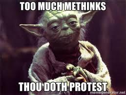 Hasil gambar untuk methinks she doth protest too much
