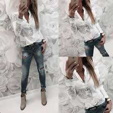 Shop <b>Fashion Autumn Women</b> Casual <b>Chiffon</b> Long Sleeve Ladies ...