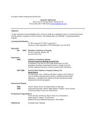example of new graduate nurse resume free download example of new graduate nurse resume