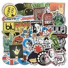 <b>100PCS</b>/Lot Rock <b>Sticker</b> Punk Cool Music Retro Band Graffiti <b>JDM</b> ...