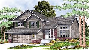 Split Level House Plans and Split Level Designs at    Split Level Style House   Plan HWBDO