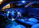 BLUE Car Interior NEON LIGHTS. Two (2) inch (30cm) Cold