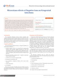 (PDF) Miraculous effects of <b>Negative Ions</b> on Urogenital Infections