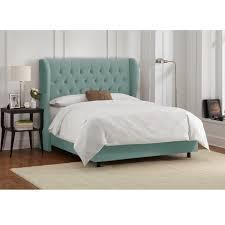 skyline furniture tufted wingback bed in velvet caribbean caribbean furniture
