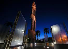 palm beach gardens teen reflects on impact of in winning the palm beach gardens 9 11 memorial sits in the predawn darkness friday