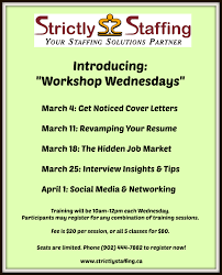 workshop wednesday the hidden job market strictly staffing inc training