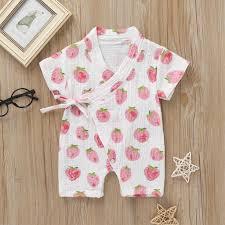 <b>2019</b> Cute Japanese Baby Clothes Baby Rompers <b>Cotton Kimono</b> ...