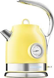 Купить <b>электрический чайник Kitfort</b> КТ-<b>694</b>, Металл, желтый в ...