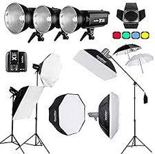 900Ws <b>Godox DP300II</b> 3X 300Ws Professional Photo Studio Flash ...