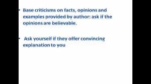 tips for writing a good critique paper tips for writing a good critique paper
