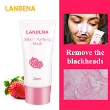 <b>LANBENA Strawberry Blackhead Remover</b> Nose Mask Mud Pore ...