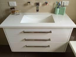 Floating Vanity Top Corian Drawers Vial Wrap Polar White - Bathroom wraps