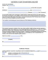 colorado notice to quit forms eviction pdf word doc 3 day notice