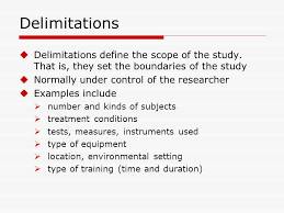Thesis Writing   Guidelines in Writing the Scope and Limitation     Dissertation Delimitations