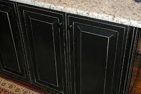 kitchen cabinets black distressed