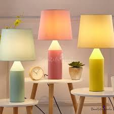 <b>Modern</b> Style Tapered <b>LED Desk</b> Light 1 Head Fabric Reading Light ...