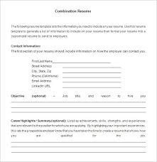 combination resume template sample free download free combination resume template