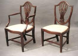 hepplewhite shield dining chairs set: good set of  hepplewhite shield back dining chairs