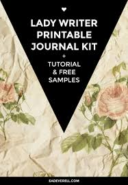 the lady writer printable journal kit creative writing blog printable journal kit lady writer book binding tutorial printable ribbons title