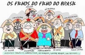 Afbeeldingsresultaat voor charge lula filho do brasil