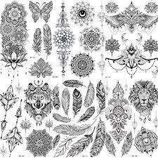 COKTAK <b>6 Pieces</b>/<b>Lot</b> Unique Black Temporary Tattoo Stickers For ...