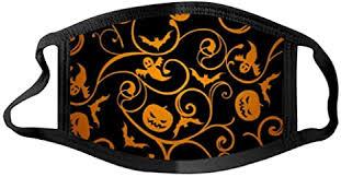 1 Pcs Reusable Face_mask <b>Halloween Theme</b> Pumpkin <b>Pattern</b> ...