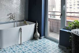 amazing bathroom tiles blue