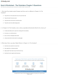 quiz worksheet the outsiders chapter questions com print the outsiders chapter 3 summary worksheet