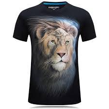 <b>2019 Summer</b> Newest 3d <b>tiger Printed</b> T shirt Cotton High Quality ...