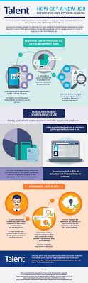 how to a new job before giving up your existing one talent how to get a new job infographic