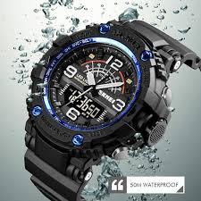 <b>SKMEI Military 3</b> Times Watches Men Large Dial Wristwatches ...