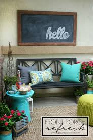gallery outdoor living wall featuring: front porch refresh via the crafted sparrow gtgt worldmarket outdoor entertaining amp decor