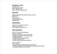 sample high school student resume     free download in pdf  wordbasic high school student resume