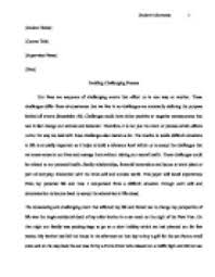 personal challenges essay  www gxart orgpersonal challenges essay  tackling a challenging process this paper will detail experiences page zoom in