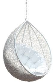 hanging chair rattan egg white half teardrop wicker hanging chair having white puff comfy outdoor hanging chair design ideas furniture hanging chair in bedroomremarkable ikea chair office furniture chairs