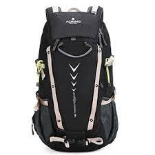 Aoking <b>40L Large</b> Travel <b>Backpack</b> With Reflector & Rain Cover ...