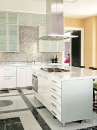 standing kitchen cabinet compact design glass