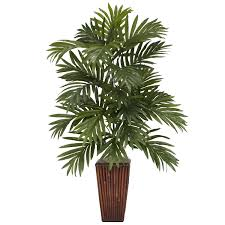 artificial plants for office decor 32 inch areca palm in bamboo vase cheap office plants