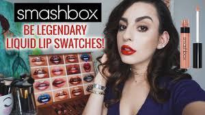 <b>Smashbox Be Legendary Liquid</b> Lip Swatches! All 17 - YouTube