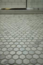 Hexagon Tile Floor Patterns Marble Hex Tile Bathroom Ideas