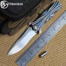 <b>Нож VENOM T</b> Kevin John M390 с титановой ручкой и шариковым ...