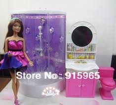 discount barbie doll house sets wholesale new arrival christmas gift play house for children bathroom barbie dollhouse furniture cheap