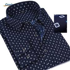 <b>Covrlge Men</b> Long Sleeve Shirt Fashion Floral Printing <b>Male</b> Shirts ...