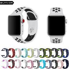 <b>BUMVOR</b> Sports <b>Silicone strap for</b> Apple Watch Iwatch <b>band</b> 40/44 ...