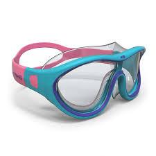 <b>Маска для плавания</b> 100 SWIMDOW <b>размер</b> S сине–розоваяu