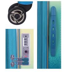 <b>Rainbow 100</b>% <b>PC</b> set of 3 suitcases- Yellow/Green – Serenade ...