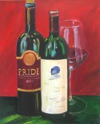 wine bottles painting print on canvas opus one silver oak and authentic oak red wine
