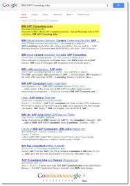 job seo explained through screenshots association unbranded search sap consulting jobs