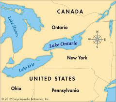 Map Still Lake Ontario